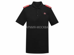 Рубашка-поло Юнармия чёрный